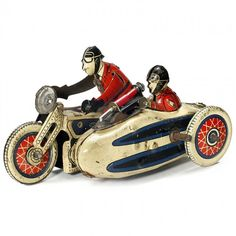 SFA – Paris French Penny Toy Military Motorcycle, c. : Lot 712