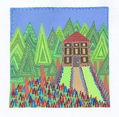 Houses in the Woods: Triangles   © Tasha Goddard   www.tag-illustration.co.uk