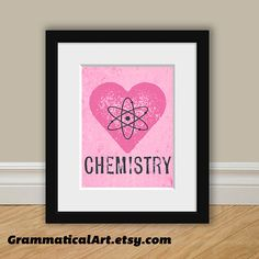 Chemistry Love Science Print  Perfect Science by GrammaticalArt, $18.00