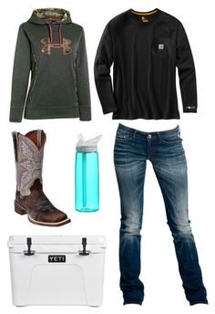 """""""Im Ready For Summer :("""" by im-a-jeans-and-boots-kinda-girl on Polyvore featuring Dan Post, Carhartt, Replay and CamelBak"""