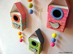 Fika a Dika - Por um Mundo Melhor: Casinhas de Passarinho com Arte