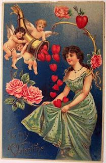 Vintage Valentine Cards -- a delightful collection to look at
