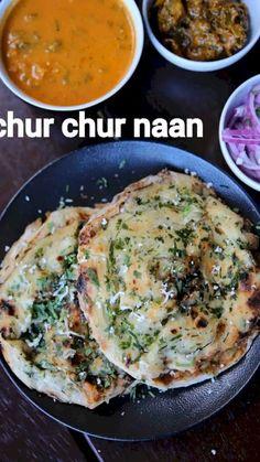 Recipes With Naan Bread, Veg Recipes, Spicy Recipes, Cooking Recipes, Flatbread Recipes, Cooking Tips, Kulcha Recipe, Chaat Recipe, Indian Recipes