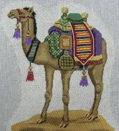 needlepoint camel from nativity set