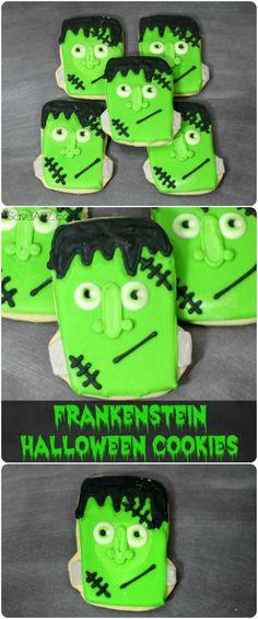 Frankenstein Halloween Cookies