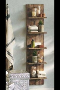 This versatile shelving unit would be ideal on achieving a modern rustic look around your home    Hand made in the UK in our family workshop enables us to make custom sizes as required   Dimensions 150cm tall x 35 cm wide shelves 13cm deep   Variations in wood may be present due to using natural occurring materials. £165.00