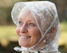 Rain Bonnet, Bonnet Hat, Clear Raincoat, Plastic Raincoat, Rain Hat, Different Colors, Vintage Fashion, Women's Fashion, Polka Dots