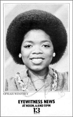 Oprah Winfrey when she worked at WJZ Channel 13 Baltimore Maryland. Vintage Black Glamour, Vintage Glam, Afro, Black Celebrities, Celebs, Black History Facts, My Black Is Beautiful, Beautiful Lips, We Are The World