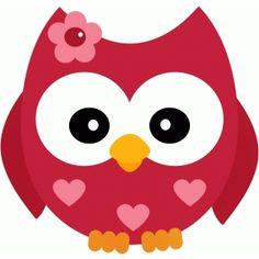 Silhouette Design Store - View Design valentine owl w flower Vintage Clip Art, Owl Clip Art, Owl Cartoon, Owl Patterns, My Funny Valentine, Printable Designs, Digi Stamps, Silhouette Design, Paper Piecing