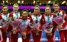 Team Canada - Women's 2012 Olympic Gymnastics Team! We'll be watching! - www.london2012.com #gymnastics #london2012 #olympics