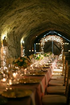 wine cellar wedding reception http://www.weddingchicks.com/2013/09/03/elegant-vineyard-wedding/