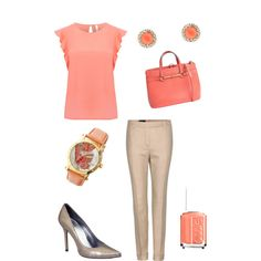ColourMePretti - Work Outfit Series in Coral