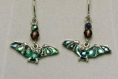 Wild Pearle Flying Bat Earrings