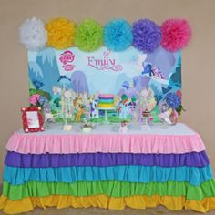 Buy your My Little Pony party supplies from Ruffles and Sweets! #mylittlepony #mylittleponyparty #horseparty #ponyparty