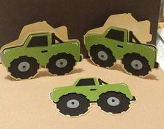 Monster truck cards, boys will be boys cricut cartridge
