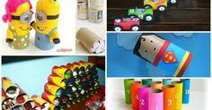 Avez-vous besoin d'une activité rapide et surtout presque gratuite? Voici 10 jouets à fabriquer avec des rouleaux de papier!