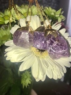Items similar to Amethyst dipped pendant. on Etsy Amethyst Jewelry, Amethyst Stone, Enchanted, My Etsy Shop, Healing, Jewellery, Christmas Ornaments, Pendant, Holiday Decor
