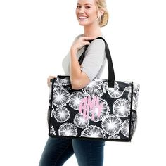 Thirty-One Gifts – Deluxe Organizing Utility Tote in Dandelion Dream! #ThirtyOneGifts #ThirtyOne #Monogramming #Organization #February2018Special #TwoMiniStorageBins #DeluxeOrganizingUtilityTote Organizing Utility Tote