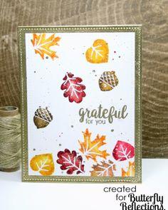 Sunny Studio Stamps: Autumn Splendor Fall Leaves Card by Cassie Tezak