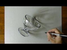 Marcello Barenghi: Drawing a Dessert Glass 3D Art