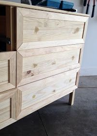 Classy and Fabulous: Ikea Tarva Hack; want to add trim to drawers