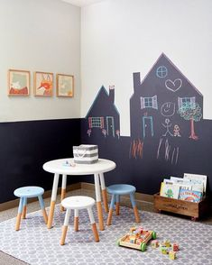 .ahhh, se na minha infância eu tivesse tanta parede livre assim pra rabiscar!!! #paredelousa #blackboard #nursery #kidsroom #quartodecrianca
