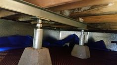 This home& floor sunk 4 inches because of rotting floor joists in the crawl space. The dryer vent had come apart in the crawl space and the humid moist air was flowing into the space causing the floor joists to literally rot away.