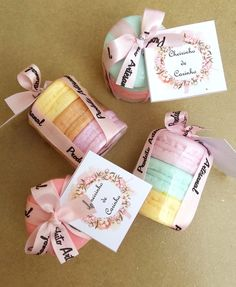 Trio de Macarons Sabonete Personalizado Diy Birthday, Birthday Gifts, Macarons, Future Shop, Cupcake Soap, Soap Packaging, Baby Shower Favors, Wax Melts, Soap Making