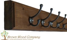 Wooden-Coat-Rack-Reclaimed-Coat-Hooks-Country-Cottage-Antique-Quality-BEST-VALUE