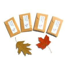 4 Fallen Leaf Scented Candle Sachets for Autumn by pebble creek candles, $12.00 #autumn #leaf #sachets #scented #decor