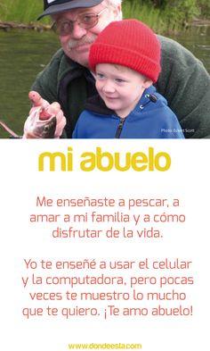 TE QUIERO ABUELO  15 de mayo: Día Internacional de la Familia  www.dondeesta.com