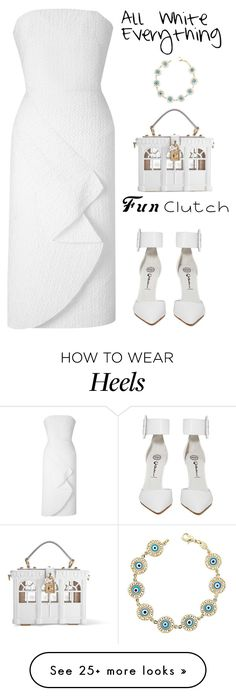 """""""White"""" by yagmur on Polyvore featuring Dolce&Gabbana, Jeffrey Campbell and Roland Mouret"""