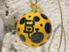 Baylor University Polka Dot Cloisonne Ornament