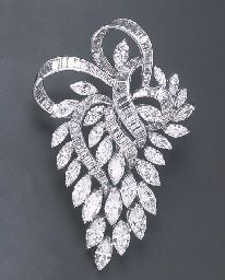 A DIAMOND BROOCH                                                                                                                                                                                 More