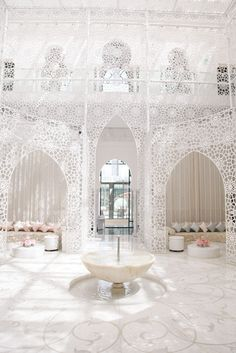 Ethereal Spaces / Royal Mansour Marrakech. / View Travel Diary on The LANE... (instagram: the_lane)  Wedding venue