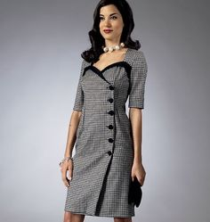 Butterick Schnittmuster 5953 --Muster von Gertie Misses'Kleid Größen: 6-8- 10-12-14