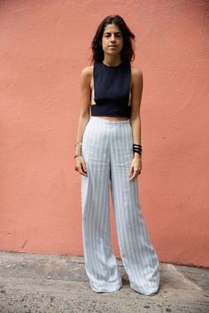 crop top + trousers