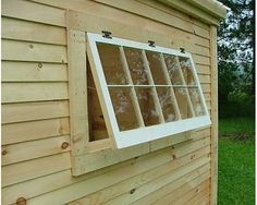 For diy builders - Handmade × barn sash window, 10 true divided lights, ready to install. Window is framed in high-quality pine, and primed white on one side. These windows are intended to be installed horizontally. Available fixed or hinged. Barn Windows, Shed Windows, Diy Windows, Playhouse Windows, Backyard Sheds, Outdoor Sheds, Garden Sheds, Window Hinges, Window Blinds