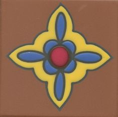 """Hand painted, kiln fired 4""""x4"""" reproductions of original Catalina tile designs."""