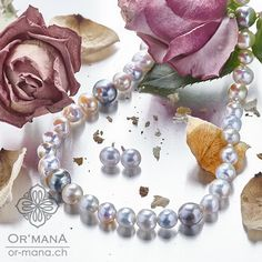 South sea pearls in white and golden. Combined with tahiti pearls. Paerl colliers are a timeless beauty you can match to almost every outfit! South Sea Pearls, South Seas, Timeless Beauty, Tahiti, Handmade Jewelry, Outfit, Earrings, Outfits, Ear Rings