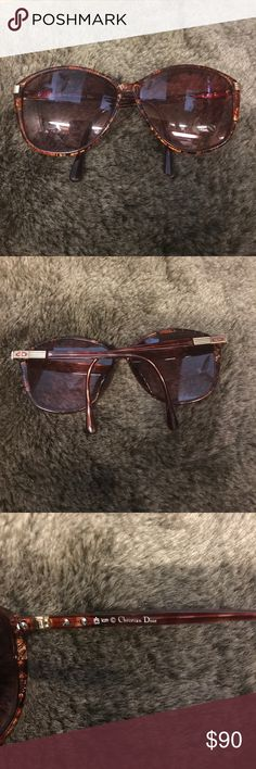 SALE!!! Christian Dior Eyeglasses Vintage Tortoise Lenses are scratched and have a prescription in them but they can be changed. The frames are in good condition. Christian Dior Accessories Glasses