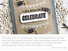 Quick & Easy Card Making + The New Gray Color Name Announcement! Grey Color Names, Gray Color, Main Colors, Different Colors, Ink Stamps, Graduation Cards, Diy On A Budget, Love Is All, How To Introduce Yourself
