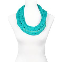 Knotted Scarf Green, 55€,  by SAAKO !!