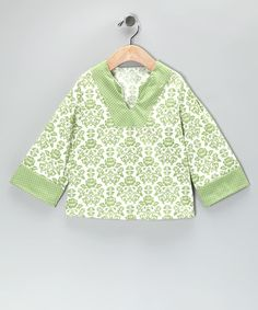 Take a look at this Light Green Sophie Tunic - Infant, Toddler & Girls on zulily today!
