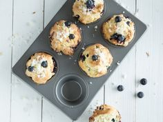 Blueberry-Muffins wie aus dem Coffeeshop
