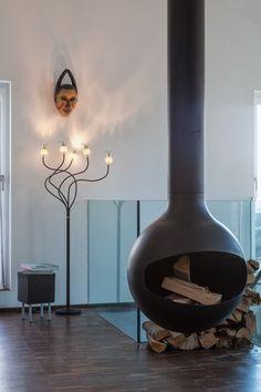 Serien Lighting Poppy Floor 5 arme schwarz,Schirme keramik,Leuchtenfuß schwarz