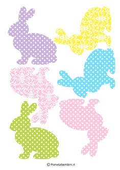 Photo: Easter Bunny Cut Outs Easter Templates, Easter Printables, Free Printables, Bunny Party, Easter Party, Easter Projects, Easter Crafts, Easter Activities, Easter Holidays