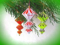Ёлочные игрушки своими руками на Новый год, шарики фонарики Лериты, мастер класс. - YouTube