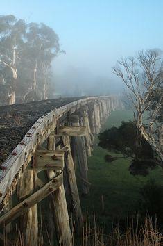 Meeniyan Trestle Bridge, Gippsland, Australia: