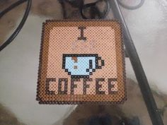 Coffee Drinker's Trivet perler beads by Soggy_Enderman
